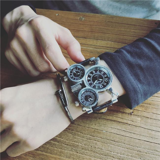 炫酷个性创意概念高科技欧美街头嘻哈说唱hiphop男表蒸汽朋克手表