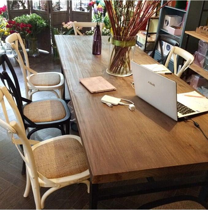 美式办公桌长方形电脑桌