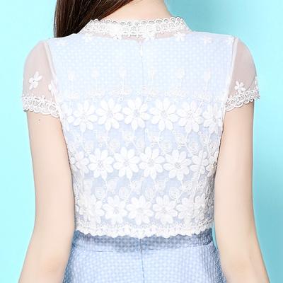 百搭小披肩2018春夏新款春短款外套韩版短袖白色蕾丝坎肩女开衫薄