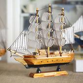 可组成舰队 节日礼品 守纠衿贩船模型摆件 地中海后现代风格