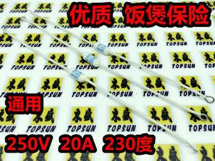 电饭锅温度保险丝 230度 20A 250V 电饭煲 陶瓷保险管 加长线脚