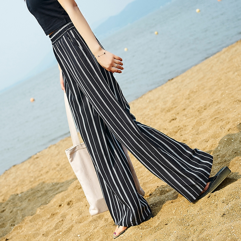 新款竖条纹裤