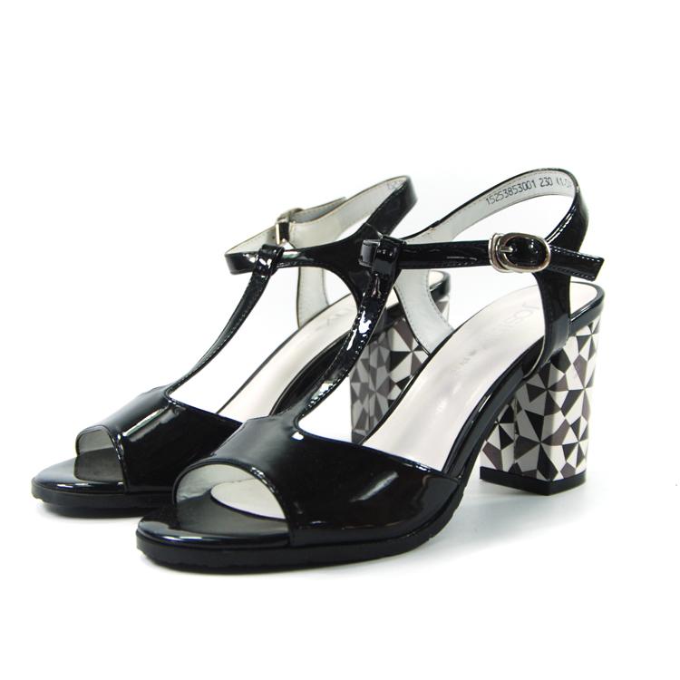 卓诗尼凉鞋女夏季女鞋夏鞋子女凉鞋露趾丁字扣高跟凉鞋152538530