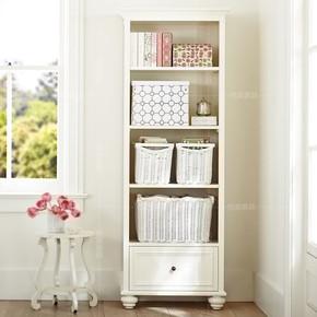 美式乡村实木书柜定制书房家具储物柜白色儿童收纳柜环保特价整装