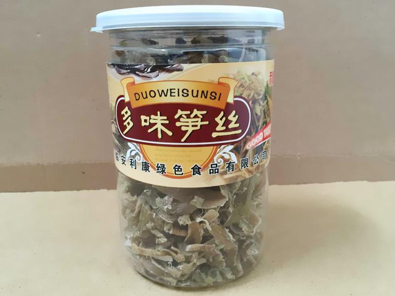 舌尖的美味临安笋干 笋丝 利康食品多味笋丝168克 5罐包邮