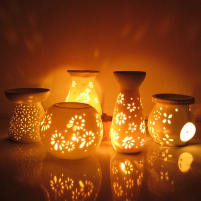 敖世陶瓷精油香薰灯创意香炉香薰炉蜡烛精油灯精油炉酒店卧室台灯特价