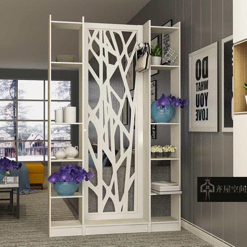 客厅与餐厅的隔断柜现代简约客厅装饰屏风小户型玄关隔断柜简欧