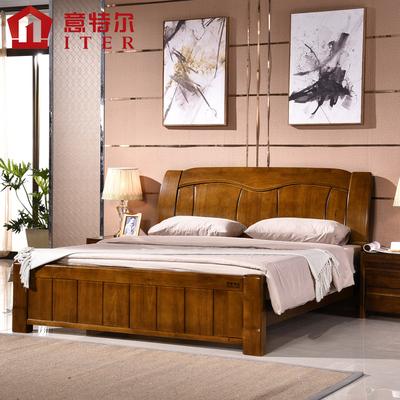 中式全橡木床年货节