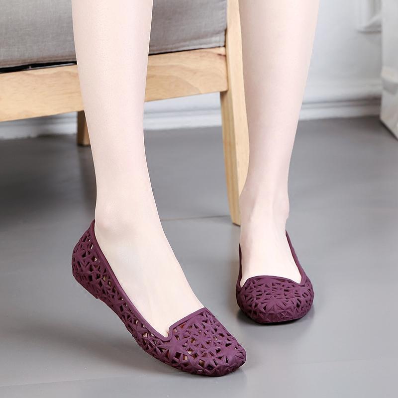 罗马平底果冻鞋镂空洞洞鞋舒适塑料女凉鞋2019新款沙滩鞋夏季雨鞋