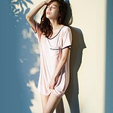 NT summer sexy nightdress, nightdress, household dress, Modal silk, can wear loose short sleeve, thin style nightdress for Xia Female