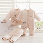 新生儿礼盒棉服纯棉婴儿衣服套装初生满月宝宝棉衣母婴用品秋冬季