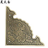 昊天斋 New Chinese style antique drawer door pure copper angled corner piece retro decorative piece copper edging