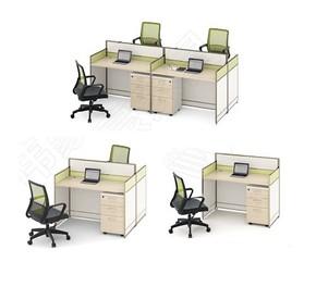 职员办公桌单人位电脑桌椅组合简约现代2/4/6人工作位屏风卡座