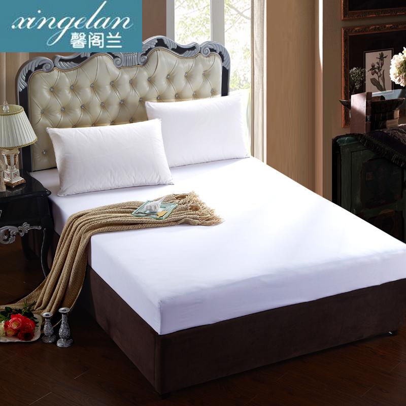 馨阁兰 床罩床笠单件床垫套1.8米床品床罩1.5纯色床垫罩1.2床套