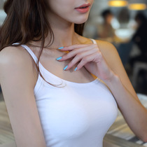 Sling Vest lady White bottom shirt short vest halter sweater cotton slimming sexy inside vest girl