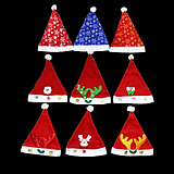 Christmas hats, Christmas decorations, hats, small gift gifts, male and female children, adult Christmas hats, hair clips