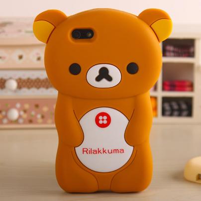iphone4手机壳轻松熊