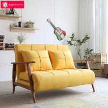 北欧沙发床简约现代可折叠三人布艺小户型两用沙发床单人双人书房