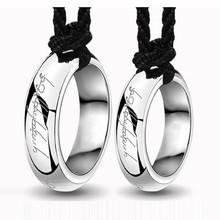 情侣魔戒戒指项链钛钢吊坠韩版一对男生项链男女学生简约个性配饰