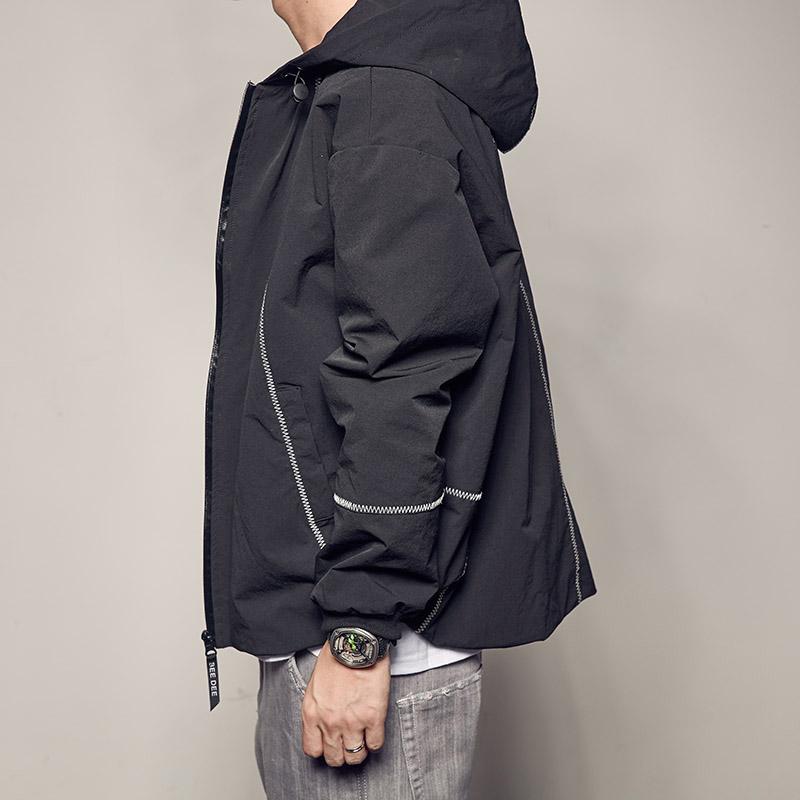 男道2017新款原创秋季外套日系潮流男装连帽夹克青年休闲男士外衣