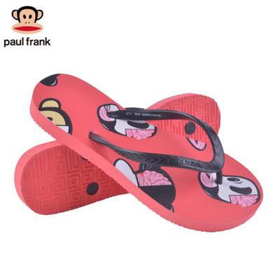 Paul Frank/大嘴猴女士新款沙滩防滑人字拖女款细带猴头潮拖鞋