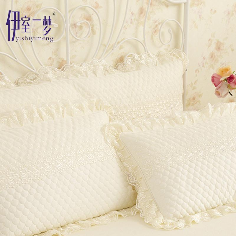 韩版纯色全棉蕾丝床罩床裙纯棉单件床单床套夹棉床盖1.5m/1.8米