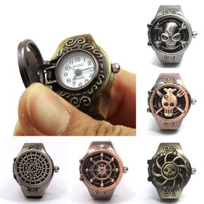 戒指表 动漫海贼王手表创意手指表男女款翻盖复古礼物特价包邮
