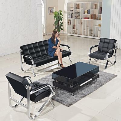 办公沙发茶几组合简约现代会客商务接待小型三人位简易办公室家具新品特惠