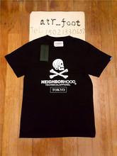 春夏季 Neighborhood 东京限定圆领纯棉短袖 T恤男士 黑色薄款