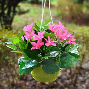 仿真绿植植物花草塑料吊盆吊篮悬挂壁挂装饰假花花艺客厅餐厅摆放