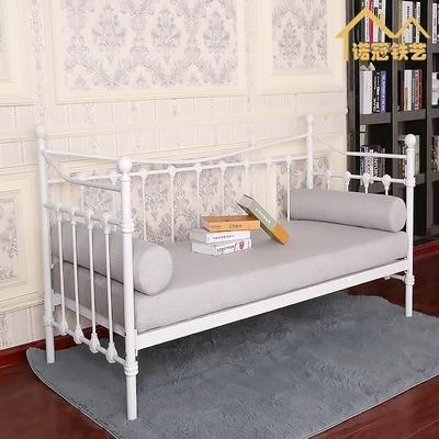 诺冠铁艺沙发床现代简约客厅沙发坐卧两用沙发欧式田园风格工业风新款推荐
