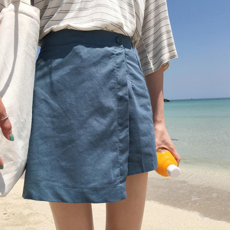 棉麻时尚短裙
