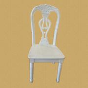全实木椅子 欧式田园休闲餐椅 白色书桌椅 韩式时尚简约凳子