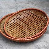 guangxi features handmade bamboo weaving products dry bamboo bamboo weaving sieves have hole dustpan bamboo weaving baskets of waterlogging caused by excessive rainfall bask in bean curd