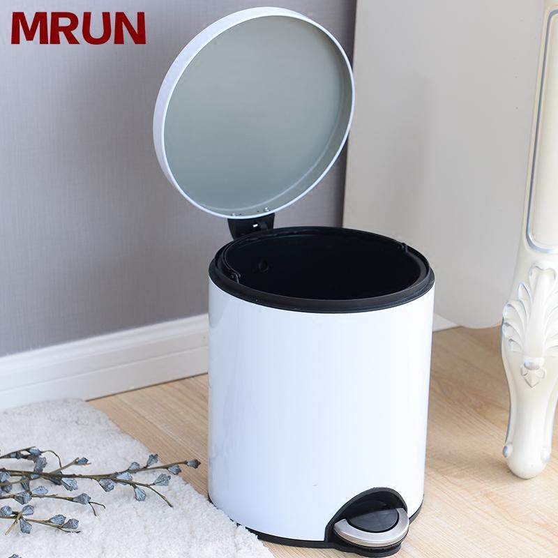 MRUN/麦润不锈钢垃圾桶脚踏式欧创意家用卫生间厨房客厅卧室有盖