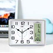 Combs Perpetual Calendar Clock Living Room Bedroom Silent Calendar Desktop Electronic Watch Clock with Temperature Desktop Clock