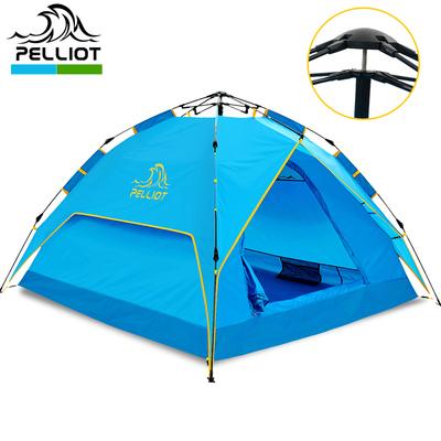 法国PELLIOT户外露营帐篷 双人多人双层野营旅游防雨野外自动帐篷