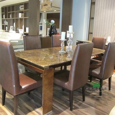 欧式餐桌椅组合天然大理石十大品牌