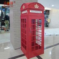 定制铁艺网红门电话亭模型英式装饰书柜酒柜英伦复古展示柜摆件