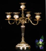格嘉睿尔欧式金属合金烛台复古家居摆件浪漫婚庆烛光晚餐蜡烛台