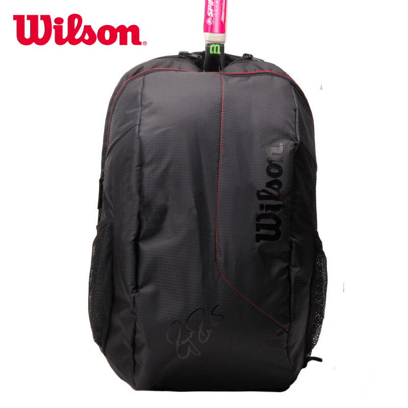 WILSON威尔胜羽毛球网球包背包带鞋仓防水背包 WRZ833795黑红