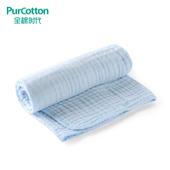 新生儿宝宝浴巾吸水115x115cm 包边婴儿纯棉纱布浴巾 全棉时代