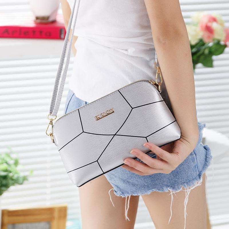 韩版白色信封手拿包