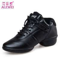 Alewei dance shoes women's square dance spring leather soft bottom square dance shoes white sailor sports dancing women's shoes