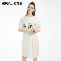 【2件8折3件7折】夏韩版纯色连衣裙女套头五分袖36602-FXAE-QC