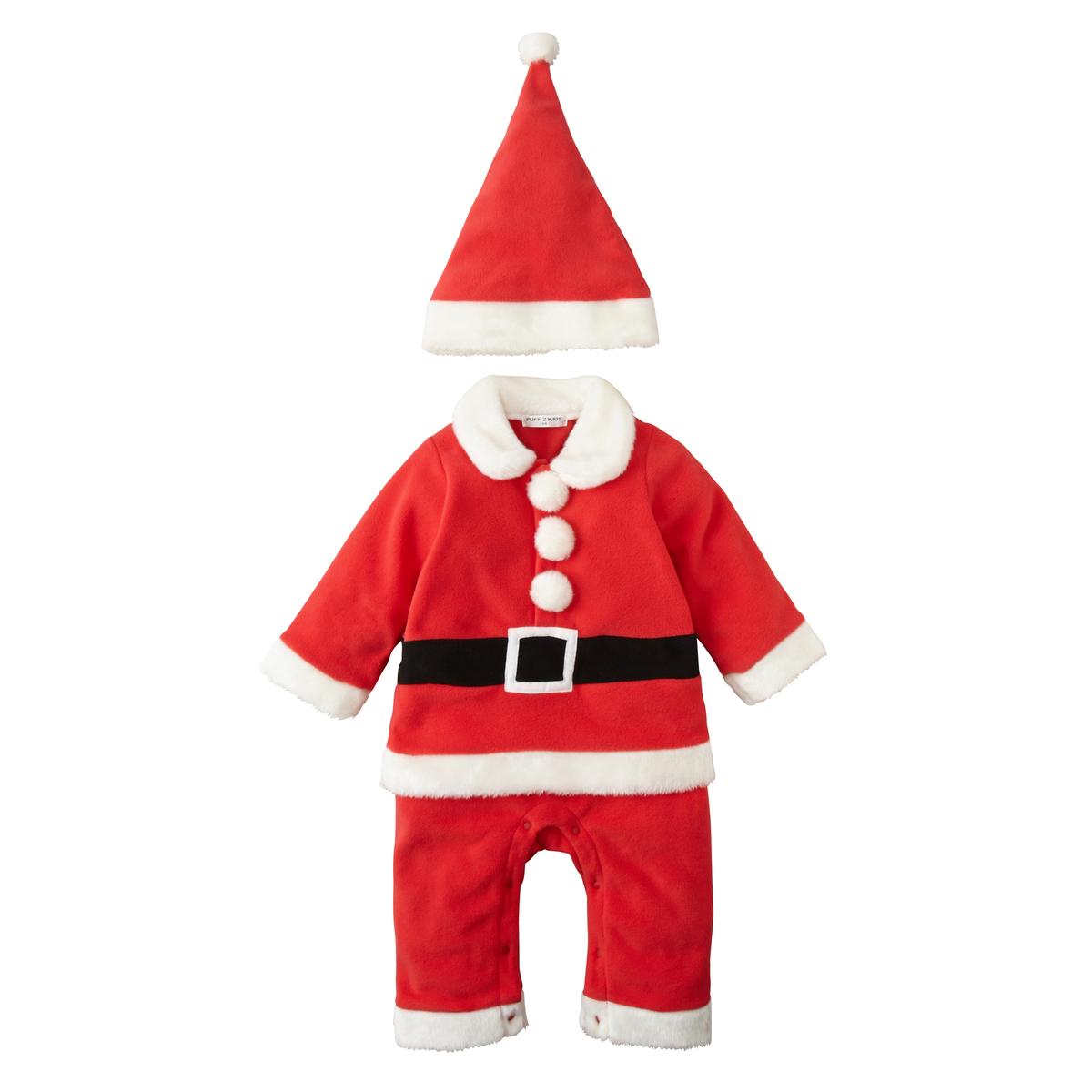 Nissen官网童装2016冬款男宝宝珊瑚绒附帽圣诞连体衣圣诞服现货