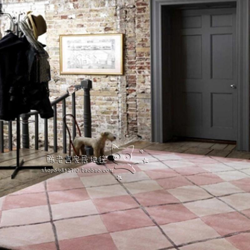 格子腈纶地毯