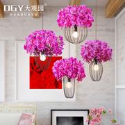 大观园美式田园吊灯过道阳台灯卧室客厅创意个性樱花吊灯