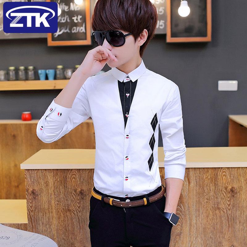 青少年韩版长袖衬衫5元优惠券