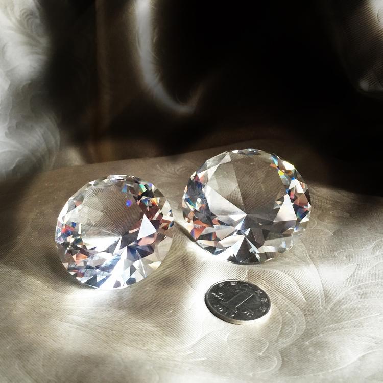 透明閃亮人造水晶玻璃鉆石兒童寶石道具辦公桌擺件裝飾三個包郵